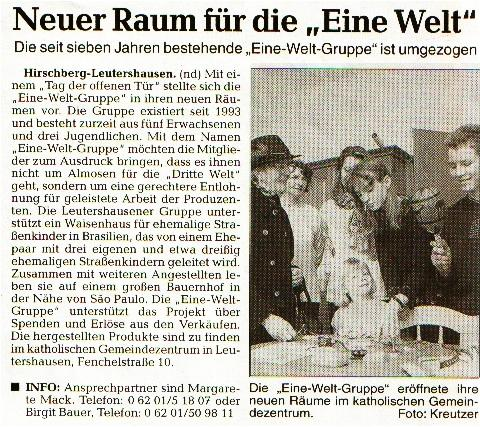 2001.03.06_RNZ_Neuer-Raum-fuer-die-Eine-Welt