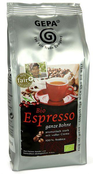 Espresso Öko ganze Bohne Image